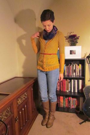 mustard Rodarte for Target cardigan - light brown Target boots