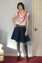 white Stella McCartney t-shirt - blue Georges Marciano for Guess skirt - gray Ol