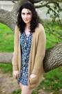 Navy-handmade-dress-camel-urban-outfitters-cardigan