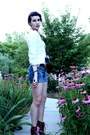 Brown-elle-for-kohls-boots-blue-american-eagle-shorts-brown-kohls-belt-whi
