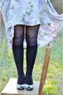 Black-target-socks-periwinkle-vintage-from-my-mum-skirt