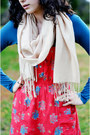Blue-billabong-dress-ruby-red-aerie-dress-black-kohls-boots