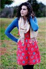 Black-kohls-boots-ruby-red-aerie-dress-blue-billabong-dress