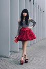 Tulle-wine-skirt-top