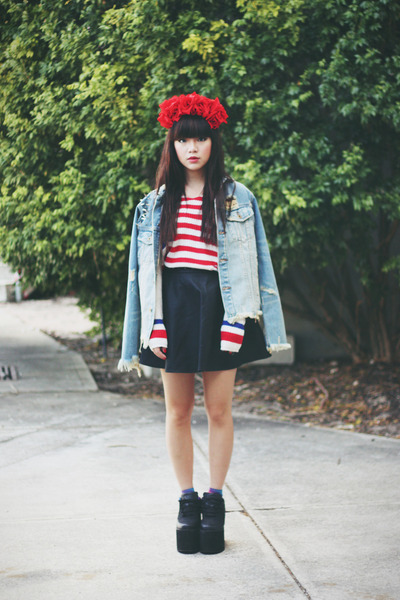 UNIF jacket - UNIF sweater - leather skirt - YRU wedges