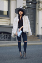 faux fur grey jacket