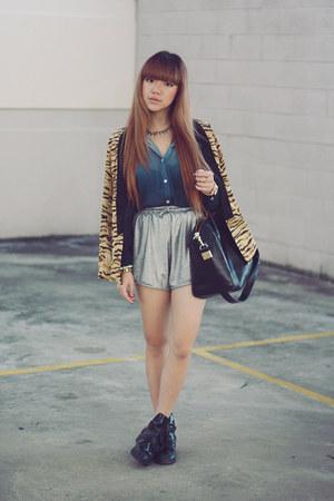 ombre shirt - tiger blazer