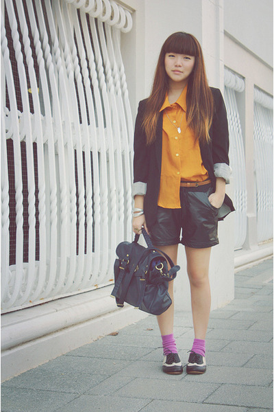bardot blazer - gold likeiglooblogspotcom shirt