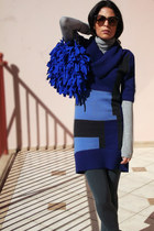 ARGENTINO bag - DKNY sweater - lanvin sunglasses