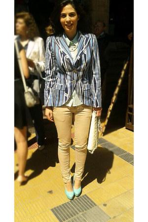 calvin klein blazer - Marquis bag - María Mantecado blouse