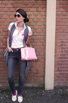 DKNY jeans - Polo Beverly Hills shirt - Loreal bag - vintage sunglasses