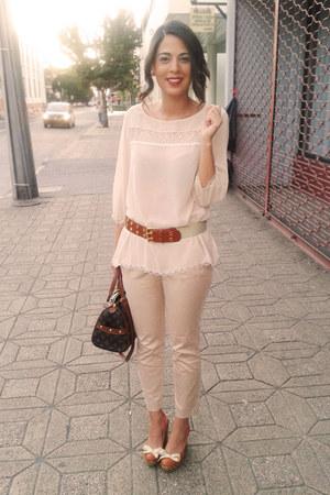 Bassement heels - alaniz blouse - Bassement pants - New Yorker belt