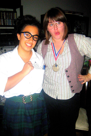 shirt - vest - glasses - necklace