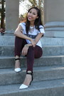 White-brandy-melville-shirt-white-zara-heels
