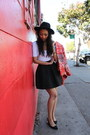Red-h-m-jacket-white-american-apparel-bodysuit-black-nordstrom-skirt