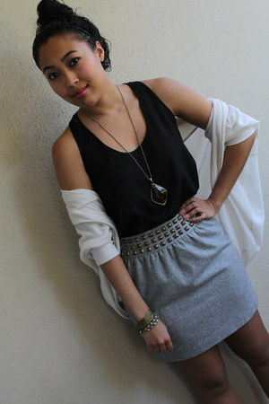 Nordstrom sweater - Urban Outfitters skirt - Nordstrom top