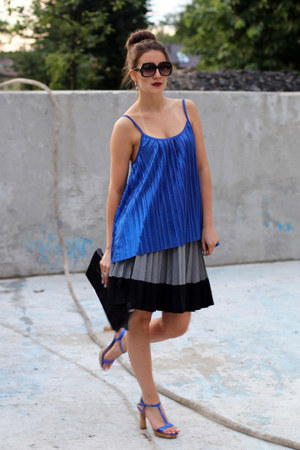 H&M skirt - blue H&M top