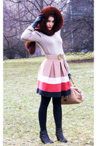 bubble gum slavic Zara skirt - nude nude Stefanel coat