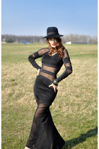 black Rosewholesale dress - black with bow unknown hat