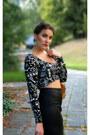 Aztec-bershka-top-faux-leather-zara-shirt-with-chain-moschino-bag