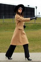 black etam pants - camel Ben Hur coat - black Wittchen heels