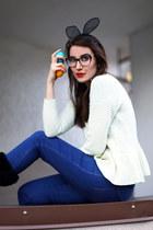 blue Zara jeans - off white wholesale sweater