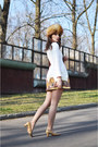 Cream-quilted-persunmall-dress-tawny-russian-hat-vintage-hat