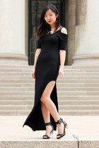 black DivaNy dress - black Jeffrey Campbell heels - silver accessories