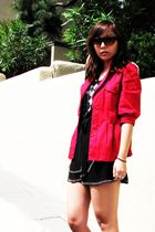red Ross jacket - black Forever 21 dress - white predictions shoes - brown Forev