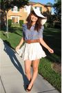 Blue-forever-21-shirt-white-rue21-skirt-brown-rue21-belt-brown-american-ea