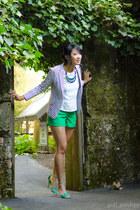 green trouser Express shorts - blue maritime JCrew blazer