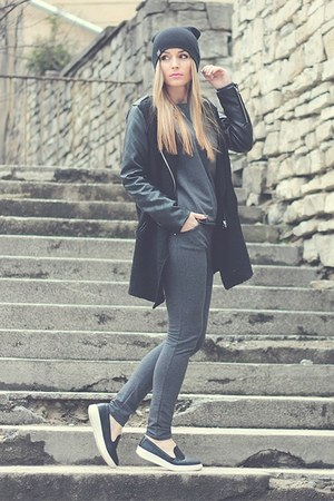 black Sheinside coat