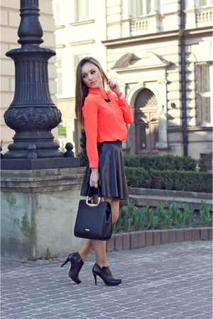 carrot orange blouse
