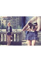 Primark necklace - vintage blouse - H&M jacket - Zara shorts - vintage bag - Oys