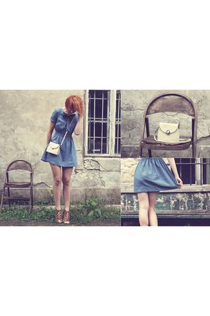 vintage dress - vintage bag - Friend shoes