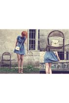 vintage dress - vintage bag - Friend shoes