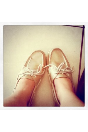 beige Sebago shoes