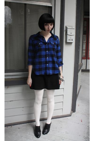 Target shirt - skirt - Sock Dreams tights - delias shoes - bracelet