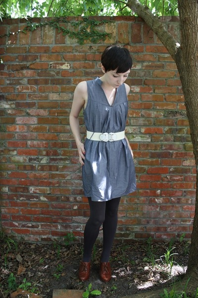Maude dress - Target tights - seychelles shoes