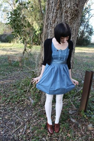 Urban Outfitters dress - Forever 21 cardigan - Sock Dreams tights - seychelles s