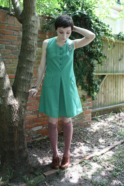 girl scout dress - Sock Dreams socks - seychelles shoes - accessories