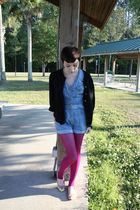 thrifted cardigan - Target tights - Forever 21 shoes