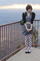 Maude dress - H&M tights - vintage bag - Forever 21 cardigan - H&M flats