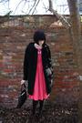 Black-forever-21-cardigan-pink-vintage-dress-target-tights-brown-vintage-s