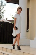 white blueShadow dress - black Parfois bag - black venezia heels