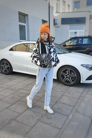 white Bershka boots - white Bershka jacket