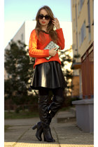 carrot orange Medicine jumper - black H&M skirt