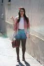 Urban-outfitters-blazer-ny-co-shorts-vintage-blouse