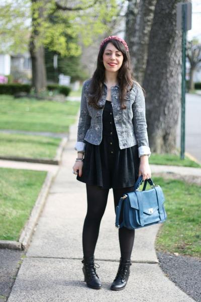 Samantha Pleet romper - joyce leslie jacket - Forever 21 bag