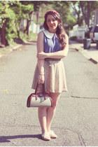 vintage bag - vintage skirt - Sugarlips top - restricted flats